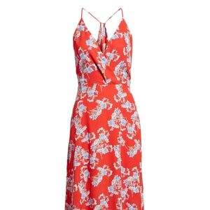 NEW LUSH Nordstrom Red Surplice Maxi Dress XL